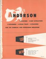 Anderson Purifiers, Mist Extractors, Scrubbers, Steam Traps, Strainers for the Chemical and Petroleum Industries