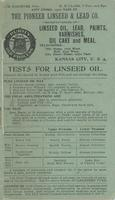 Tests for Linseed Oil -- Linseed Oil Meal and Oil Cake