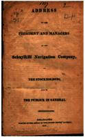 Address of the President and Managers of the Schuylkill Navigation Company : To the Stockholders and to the Publick in General