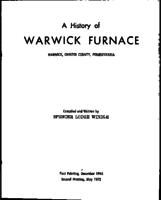 A History of Warwick Furnace
