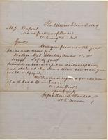 Correspondence, Morrell and Randall to E. I. du Pont de Nemours and Company, 1859-12-03