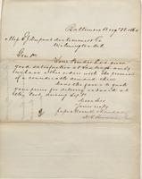 Correspondence, Morrell and Randall to E. I. du Pont de Nemours and Company, 1860-08-28
