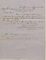 Correspondence, Morrell and Randall to E. I. du Pont de Nemours and Company, 1860-09-15