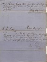 Correspondence, Andrew J. Catherwood to John Peoples [E. I. du Pont de Nemours and Company], 1852-08-20