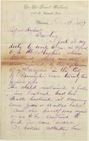 Correspondence, De Forest Willard to E. I. du Pont de Nemours and Company, 1877-02-19