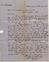 Correspondence, Graham, Rowe and Company to E. I. du Pont de Nemours and Company, 1881-01-17
