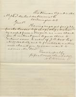 Correspondence, Morrell and Randall to E. I. du Pont de Nemours and Company, 1860-04-11