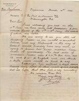 Correspondence, Graham, Rowe and Company to E. I. du Pont de Nemours and Company, 1884-03-14