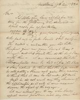 Correspondence, William Kemble to E. I. du Pont de Nemours and Company, 1820-11-19