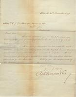 Correspondence, Ashburner and Company to E. I. du Pont de Nemours and Company, 1877-12-28