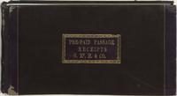 Passage Receipt Book, 1853
