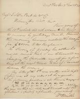 Correspondence, William Kemble to E. I. du Pont de Nemours and Company, 1820-11-13