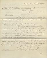 Correspondence, Ashburner and Company to E. I. du Pont de Nemours and Company, 1869-11-23