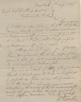 Correspondence, William Kemble to E. I. du Pont de Nemours and Company, 1825-09-07