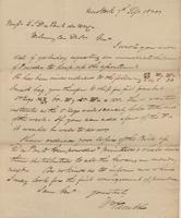 Correspondence, William Kemble to E. I. du Pont de Nemours and Company, 1820-09-07
