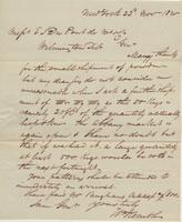 Correspondence, William Kemble to E. I. du Pont de Nemours and Company, 1820-11-23