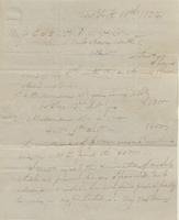 Correspondence, William Kemble to E. I. du Pont de Nemours and Company, 1824-10-10