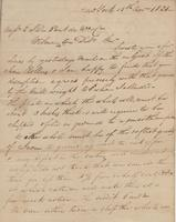 Correspondence, William Kemble to E. I. du Pont de Nemours and Company, 1821-11-15