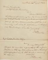 Correspondence, William Kemble to E. I. du Pont de Nemours and Company, 1820-04-24