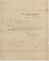 Correspondence, A. G. Wallen [George McHenry and Company] to John Peoples [E. I. du Pont de Nemours and Company], 1852-02-21