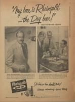 'My Beer is Rheingold - the Dry Beer' says Raymond Loewy
