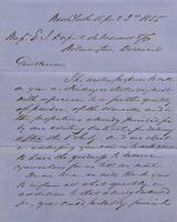 Correspondence, Grinnell, Minturn & Co. to E. I. du Pont de Nemours and Company, 1855-04-02