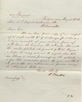 Correspondence, Alsop and Company to E. I. du Pont de Nemours and Company, 1860-08-17