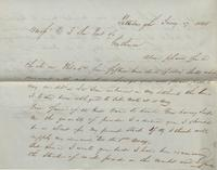 Correspondence, George Berry to E. I. du Pont de Nemours and Company, 1844-01-17