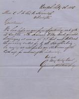 Correspondence, Grinnell, Minturn & Co. to E. I. du Pont de Nemours and Company, 1856-07-26