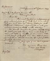 Correspondence, Alsop and Company to E. I. du Pont de Nemours and Company, 1859-09-14