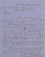 Correspondence, Grinnell, Minturn & Co. to E. I. du Pont de Nemours and Company, 1855-05-12