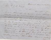 Correspondence, George Berry to E. I. du Pont de Nemours and Company, 1844-01-09