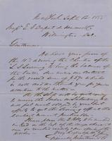 Correspondence, Grinnell, Minturn & Co. to E. I. du Pont de Nemours and Company, 1855-09-12