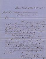 Correspondence, Grinnell, Minturn & Co. to E. I. du Pont de Nemours and Company, 1856-04-11