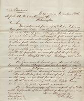 Correspondence, Alsop and Company to E. I. du Pont de Nemours and Company, 1860-11-17