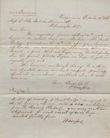 Correspondence, Alsop and Company to E. I. du Pont de Nemours and Company, 1860-10-17