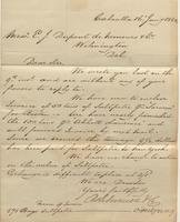 Correspondence, Ashburner and Company to E. I. du Pont de Nemours and Company, 1860-01-16