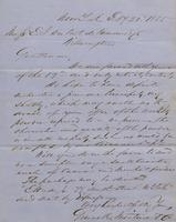 Correspondence, Grinnell, Minturn & Co. to E. I. du Pont de Nemours and Company, 1855-02-21