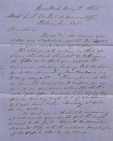 Correspondence, Grinnell, Minturn & Co. to E. I. du Pont de Nemours and Company, 1855-05-02