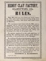 Henry Clay Factory, Brandywine, Del. : Rules
