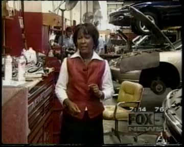 """Lin Peacock/Auto Technician Shortage"": Fox 5 Morning News: WITG-TV (FOX) Washington: August 6, 2001 7:00-8:00 PM"