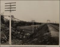 Concrete Telegraph and Telephone Pole Line Between New Jersey Tunnel Portals and Manhattan Transfer