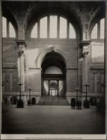 Pennsylvania Station: Main Waiting Room - Showing Stairway to Arcade