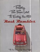 Presenting Pinin Farina's latest: the exciting new 1953 Nash Rambler, the car designed for today's traffic