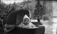 Thomas C. Marshall Jr. in baby carriage