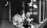 Tom Marshall, Jr. as a toddler with his mother