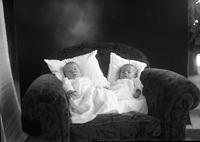 """The Twins,"" Robert and Alan Mancill, as infants"