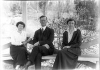 Esther Marshall with Norman and Anna Mancill