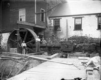 Corliss steam-engine installation at Marshall Brothers Paper Mill