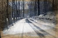 Road in Yorklyn during winter